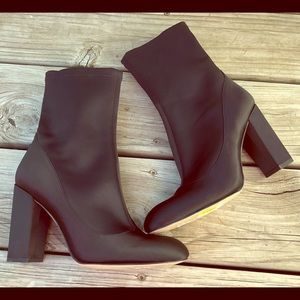 Sam Edelman Calexa black satin stretch boots